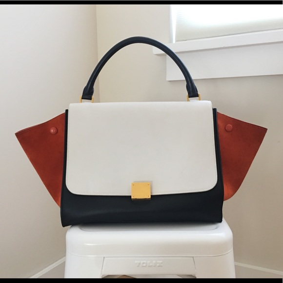 Celine Handbags - Celine Trapeze Tri-color Medium Tote